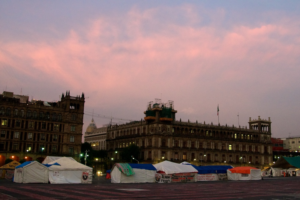 Government Buildings and Tents in Mexico City, Mexico by Ralph Velasco