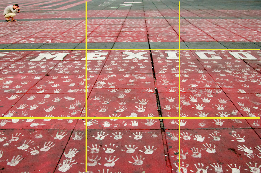 Mexico and Handprints with Grid by Ralph Velasco
