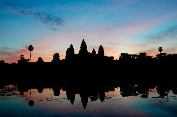 Wider View of Angkor Wat at Sunrise - Siem Reap, Cambodia by Ralph Velasco