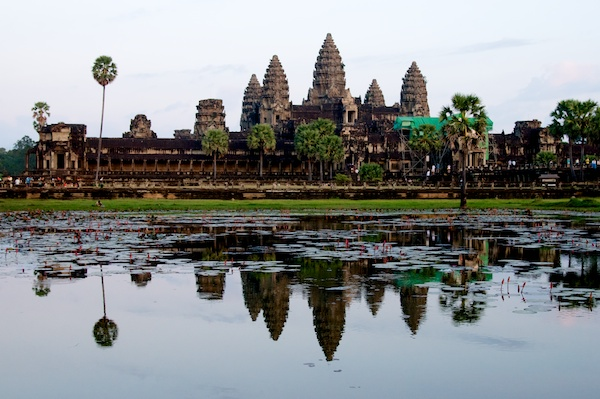 Wider view of Angkor Wat at Sunset - Siem Reap, Cambodia by Ralph Velasco