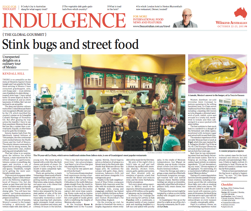 Stinky Bugs and Street Food