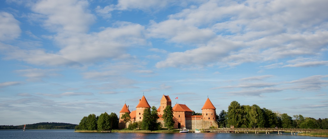 Trakai Castle with Clouds in Trakai Lithuania by Ralph Velasco