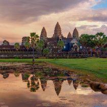 Angkor Wat at sunrise - Siem Reap, Cambodia - Copyright 2014 Patrick J Monahan